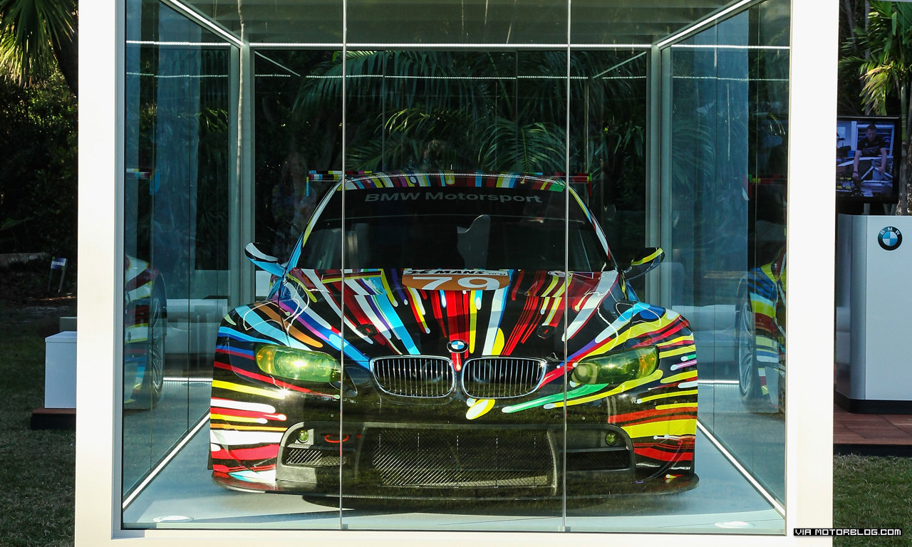 Jeff Koons' BMW Art Car feierte Nordamerika-Premiere auf der Art Basel in Miami Beach