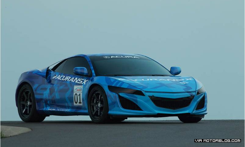 Honda NSX Prototype Excites Race Fans at Mid-Ohio Demonstration Lap