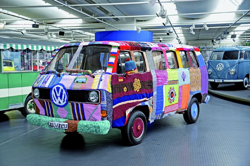 VW Volkswagen knit winter wagon van