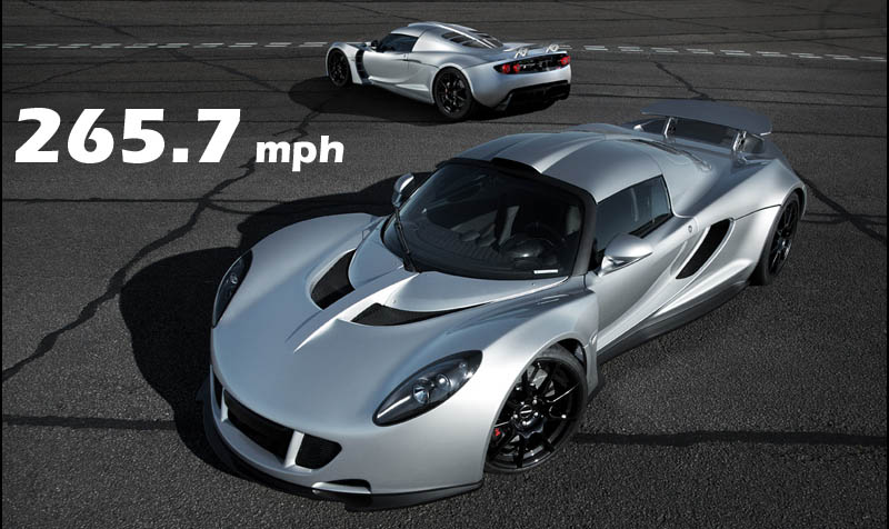 video Hennessey Venom GT speed record