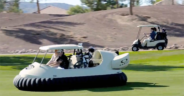 Video golf course hovercraft Oakley Bubba Watson