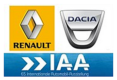 Renault and Dacia at the 65th frankfurt international motor show